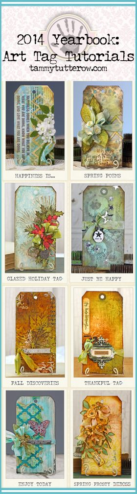 New e-book: 2014 Yearbook- Mixed Media Art Tags   8 step-by-step tutorials.