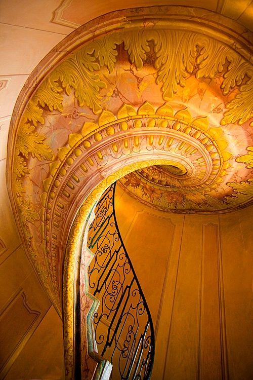 The Spiral Staircase in the Monastery of Melk, Melk, Austria, by Jim  Zuckerman