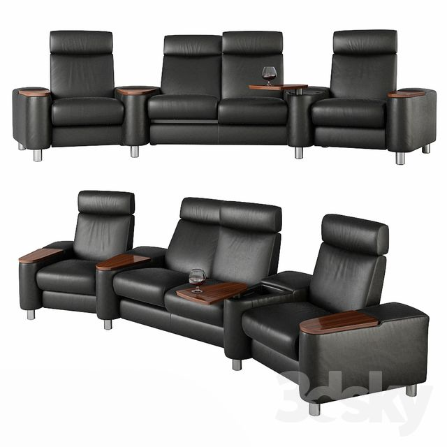 3d Models Arm Chair Stressless Arion High Back Home Cinema