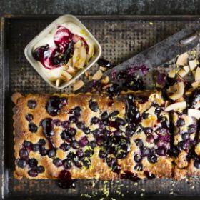 Blueberry 'frangipane' tart
