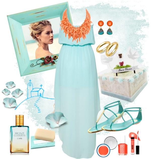 """Romantic Aegean wedding"" by antigoni-pagali on Polyvore"