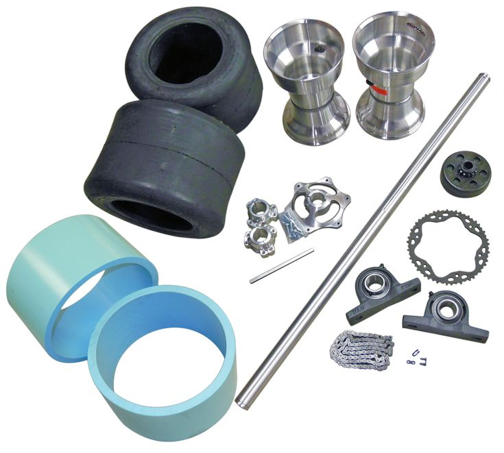 TDC Drift Trike 1-1/4'' Tubular Axle Kit with Tires, Rims, Clutch, & Sleeves | 334500_TDK | BMI Karts And Parts