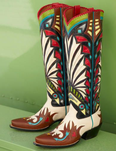 Headdress Wingtip Boots. ROCKETBUSTER HANDMADE CUSTOM BOOTS, The Official Website | wings & feathers