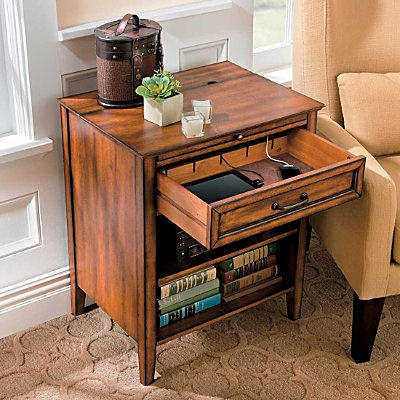 Side Table With Charging Station For The Home In 2019