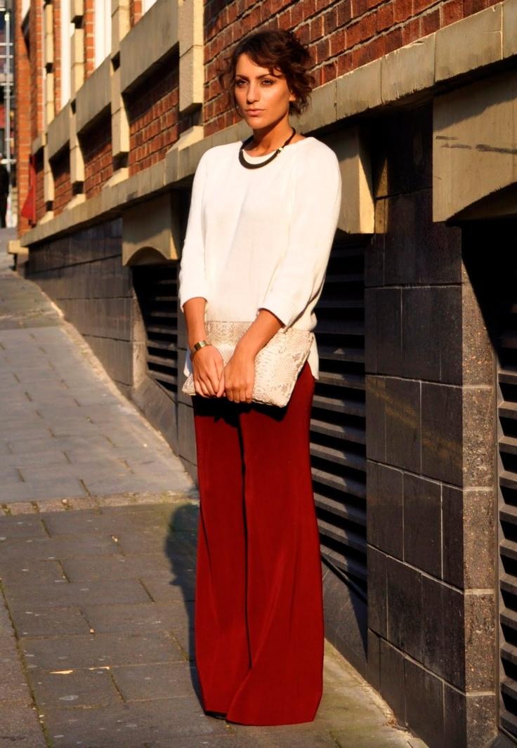 .: Blouses, Pants Pairings, Color, Flowy Pants, Imaginary Closet, Fashion Obsession, Fav Fashion, Photo, Bags