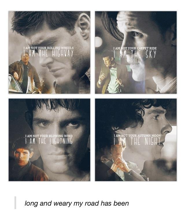 Sherlock, merlin, supernatural, doctor who