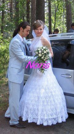 Вязаное свадебное платье. Обсуждение на LiveInternet - Российский Сервис…