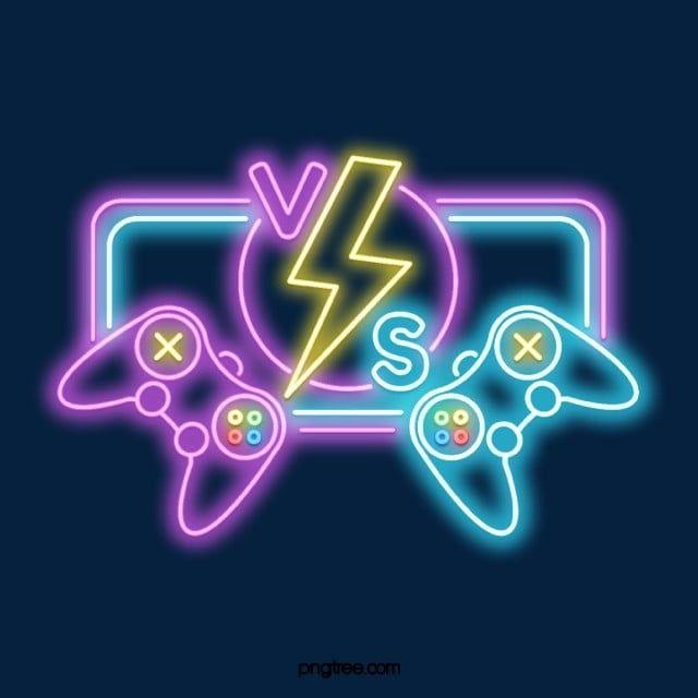 Salao De Jogos De Neon Vs Sinal De Jogo Confronto Partida Jogos Imagem Png E Psd Para Download Gratuito In 2021 Neon Signs Neon Sign Bedroom Neon