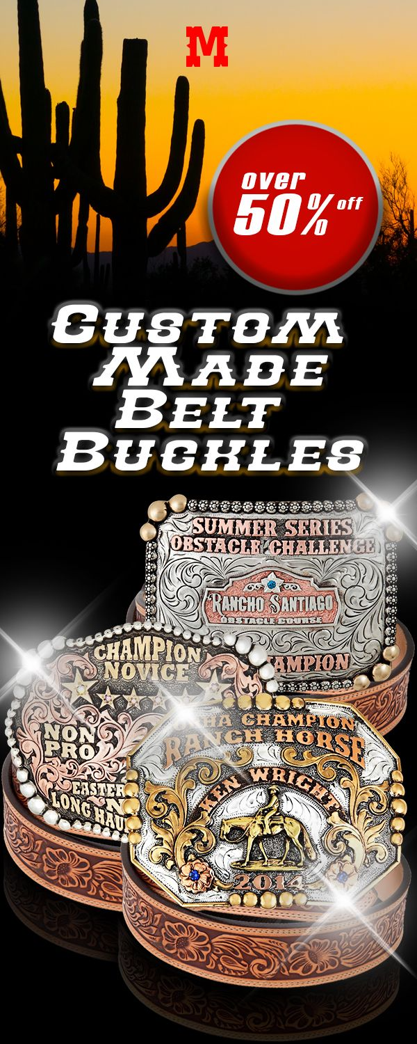 At Molly's Custom Silver, we pride ourselves on creating the highest quality custom made belt buckles at prices that individuals and clubs can afford.