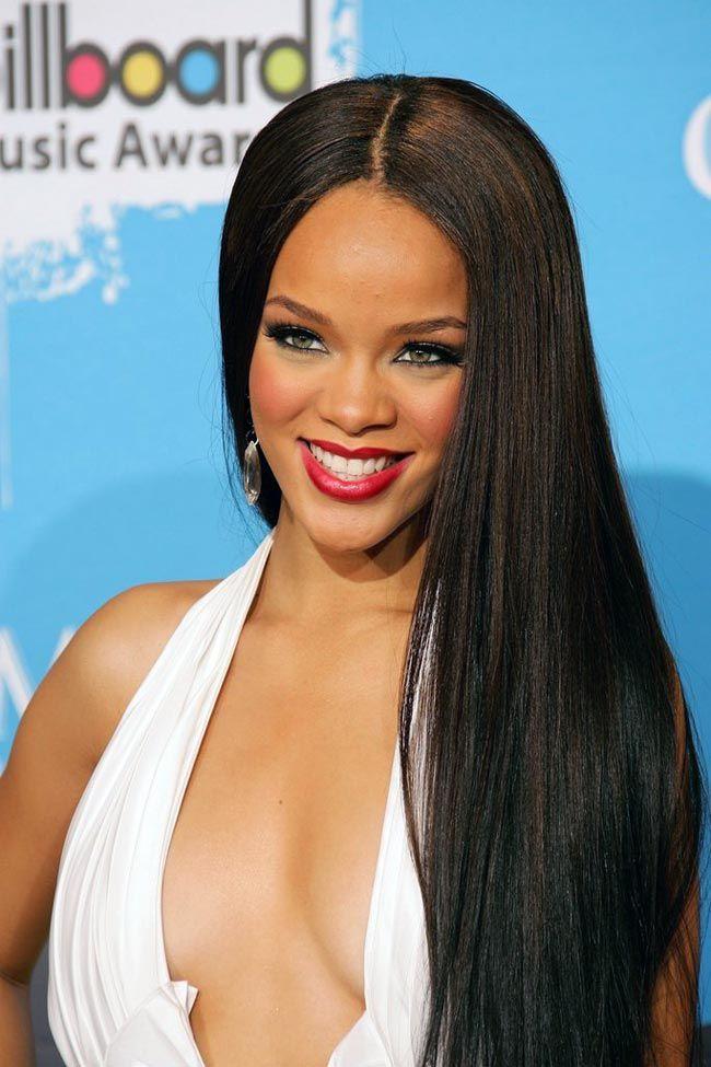 Rihanna In Long Straight Hair Hollywood Fashion Style Beauty Hollywood Pinterest