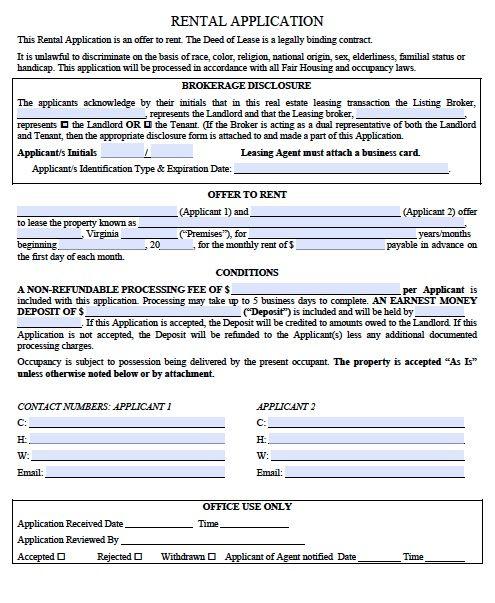 Printable Sample Rental Verification Form Form Real