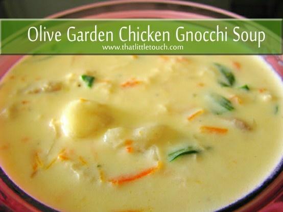 Olive Garden Chicken Gnocchi Soup Food Pinterest