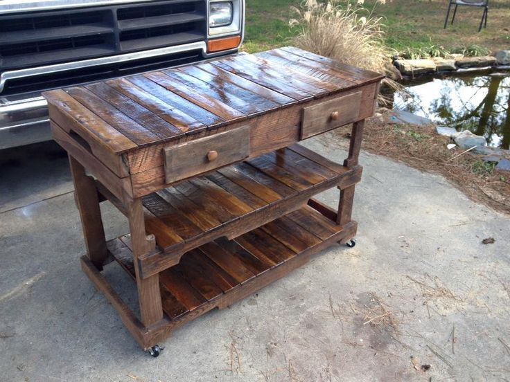 Kitchen Island Out Of Pallets 630 best pallets tables - mesas de palets images on pinterest