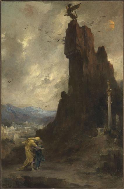 Oedipe s'exilant de Thèbes Henri LEVY (1840-1904)