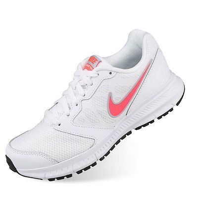 3857949fea40d Nike Womens Downshifter 6 Running Shoes Gym Fitness Trainers White  Authentic Aus 7 for sale online | eBay