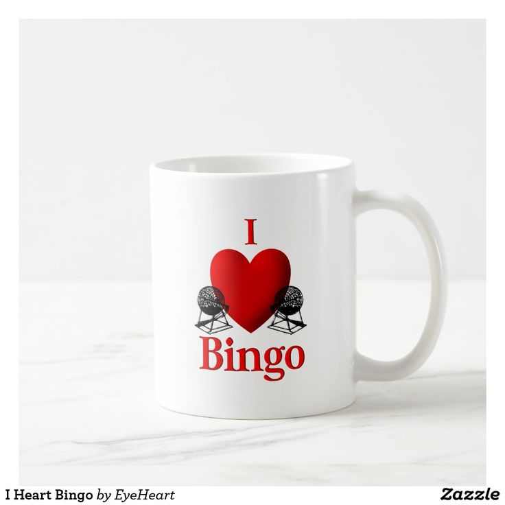 I Heart Bingo Coffee Mug   50% off