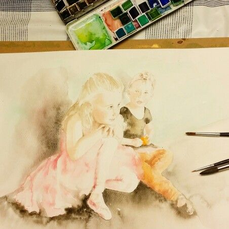 Aquarelle painting / Ballerina
