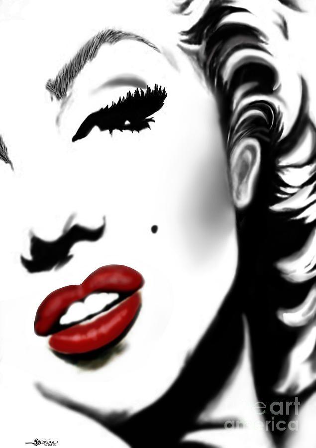 Marilyn, artist: Christine Mayfield ~~ For more:  - ✯ http://www.pinterest.com/PinFantasy/gente-~-marilyn-monroe-art/