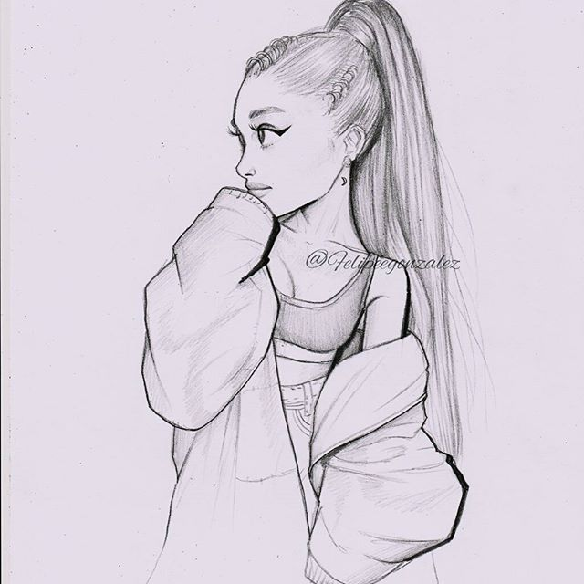 I did this lil cartoon of ari yesterday, Im not feeling good lately… It's