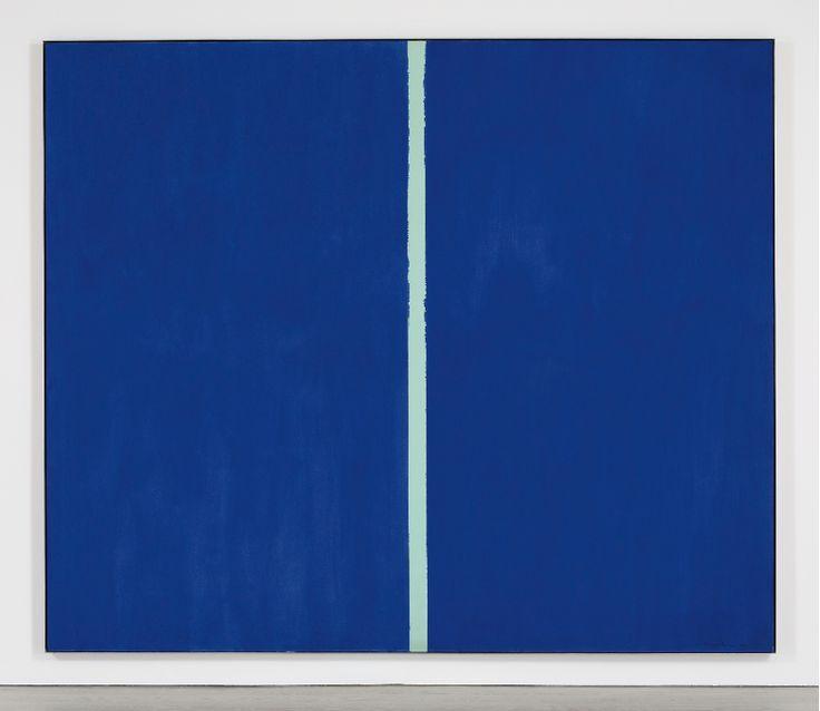 Барнетт Ньюман (1905—1970), американский художник. Картина «ONEMENT VI» написана в 1953 году. Верхняя планка оценочной стоимости: $40 000 000. Продана за $43 845 000.
