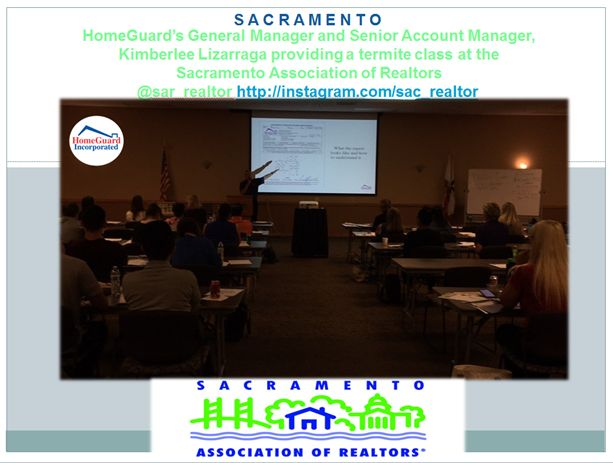 Educating agents at Sacramento Association of Realtors, class taught by: HomeGuard's Senior Account Manager, Kimberlee Lizarraga and General Manager, Eric Syren!