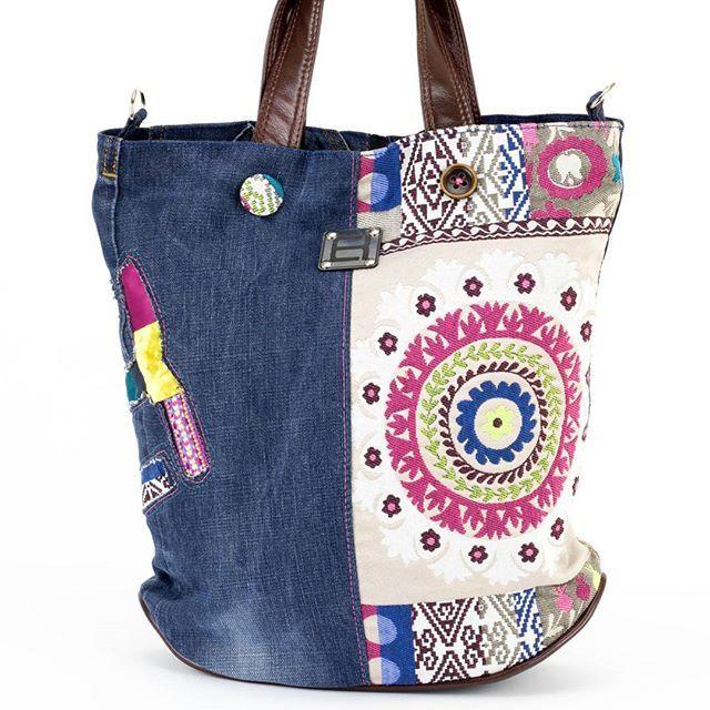 #norakocziszky #handmade #bags #colors #jeans #hippy #unique #mandala