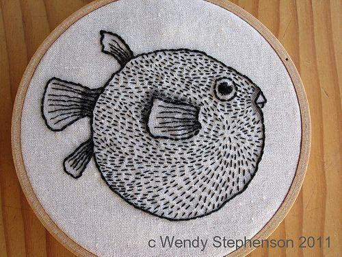 Wendalene cuteness! I love a good puffer fish.                                                                                                                                                                                 More