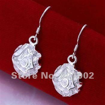 LQ-E066 Free Shipping 925 silver earrings wholesale 925 silver fashion jewelry earring ajra jaya rsha US $1.36