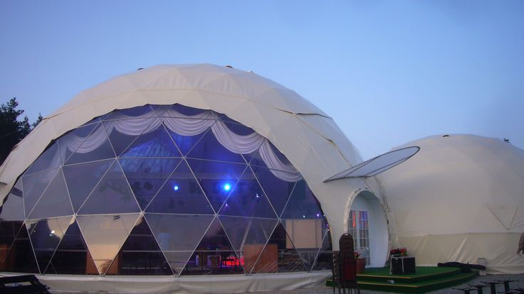 Stationary VIP complex for events, D20m, Pabrade, LT - VikingDome