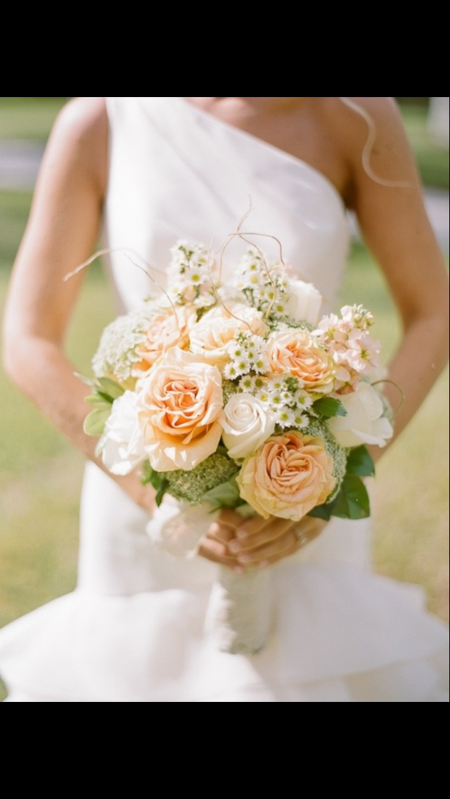 See 11 Best Images Of Peach Wedding Bouquets White And Bouquet Bridal Flowers Yellow