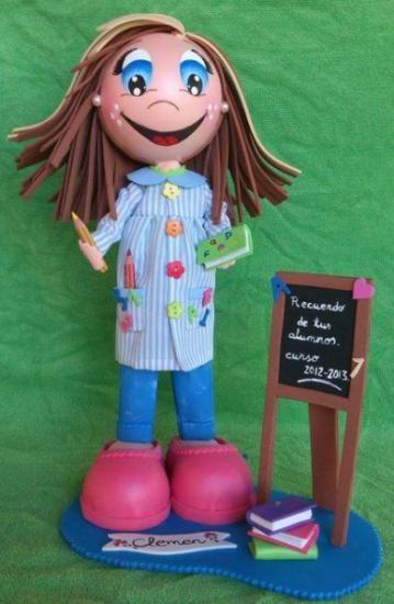 Muñeca Fofucha maestra totalmente personalizada.