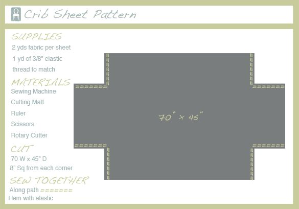 Sew a CRIB sheet - because i never remember the measurements.
