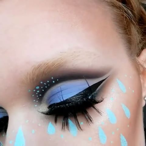 Lime Crime - April showers ☂ #Venus2 + Liquid Liners in 'Blue...