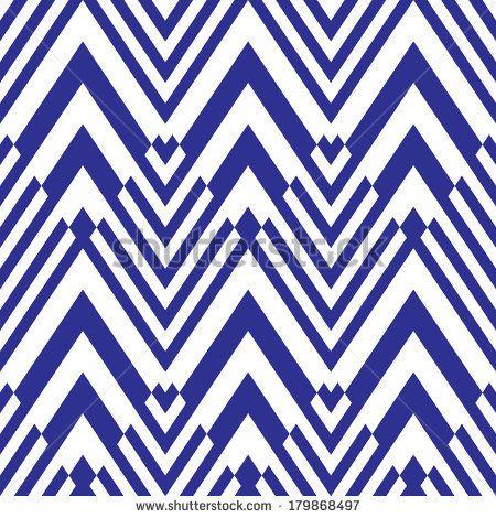 Seamless geometric chevron pattern background by AKSANA SHUM, via Shutterstock