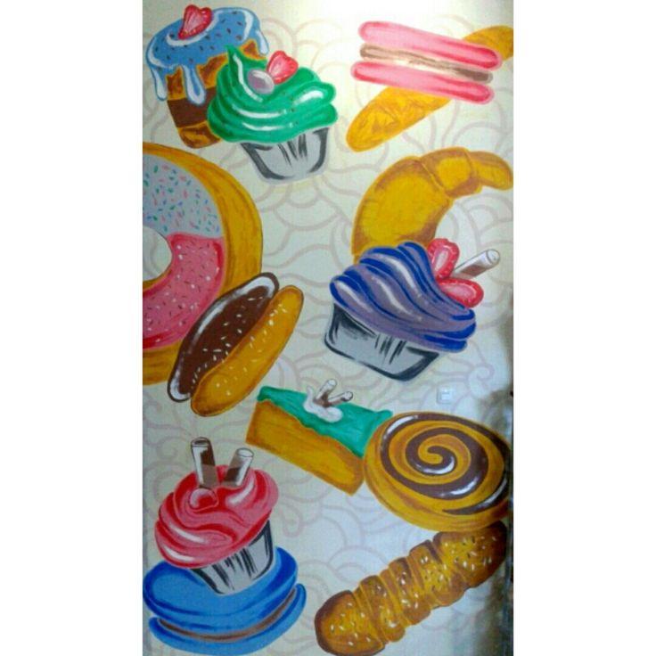 Mural wallpainting bakery bake
