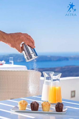 Sweet delicacies for our guest at Astra Restaurant - Astra Suites, Imerovigli, Santorini, Greece
