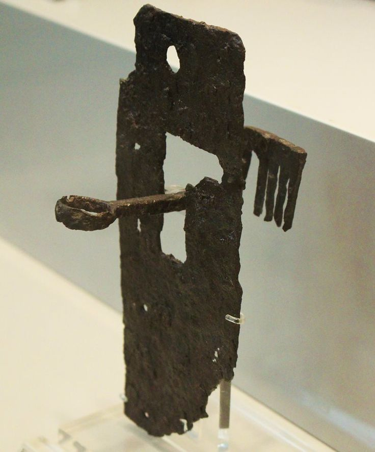 UNLOCKING A 2200 YEARS OLD DOOR Iron key of the Laconian type. From Tanagra in Boeotia. Athens, National Archaeological Museum, Bronze Collection