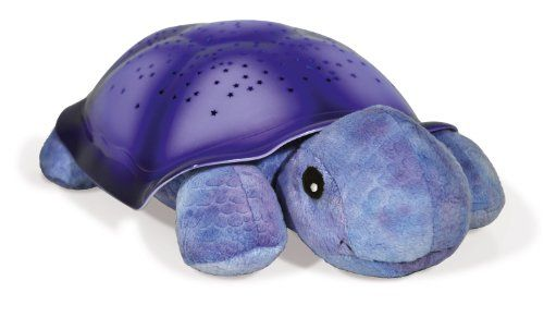 Twilight Turtle - Purple - Twilight Turtle – Purple  List Price: $42.95   Projecting a starry night sky onto bedroom ceilings and walls Hidden within the soothing star pattern are 8 constellations Includes the big dipper Auto shut-off; 45 minutes sleep timer Star guide storybook adoption certificate included    List Price: $42.95 Your Price: $28.95-   Cloud B Twilight Turtle – Purple Twilight Turtle is a plush toy that transforms any room into a starry night sky t