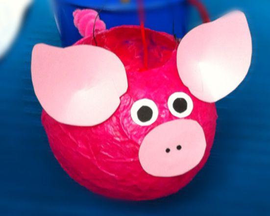 Laterne, Laterne, Sonne, Mond und….Schweinchen – oder – Wie aus einem Luftballon Mr. Pig wird | Lilamalerie