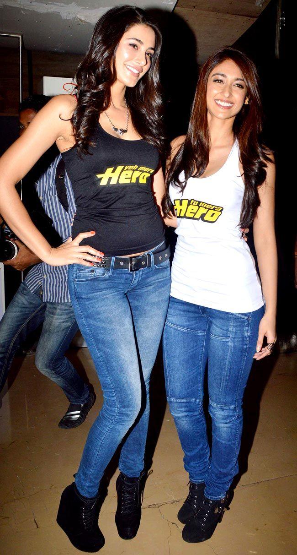 Nargis Fakhri with Ileana D'Cruz at the trailer launch of 'Main Tera Hero' #Style #Bollywood #Fashion #Beauty