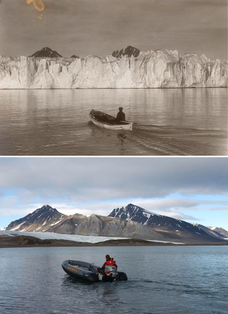Photos Taken In Norway 100 Years Apart Highlight The...