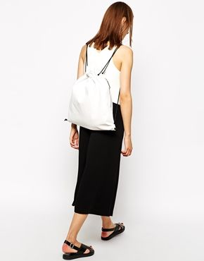 Image 3 of Whistles Drawstring Backpack in White