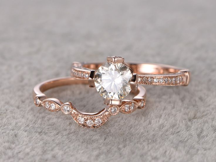 Best Moissanite Engagement Rings Images On Pinterest