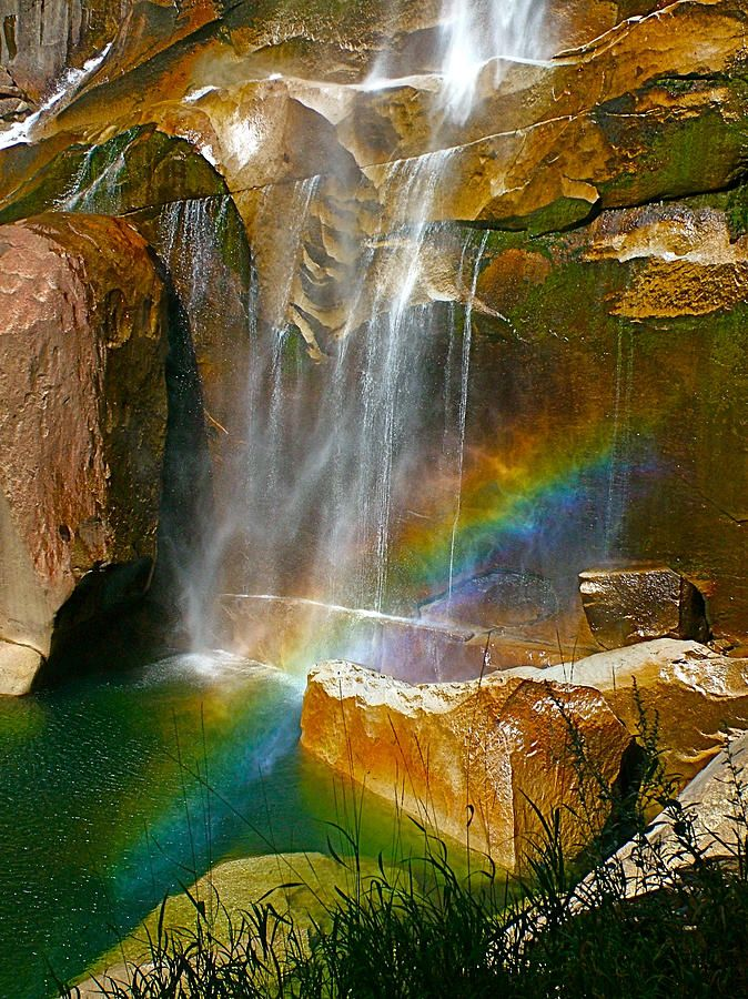 ~~Afternoon Rainbow At Vernal Falls In Yosemite National Park, California by Ruth Hager~~