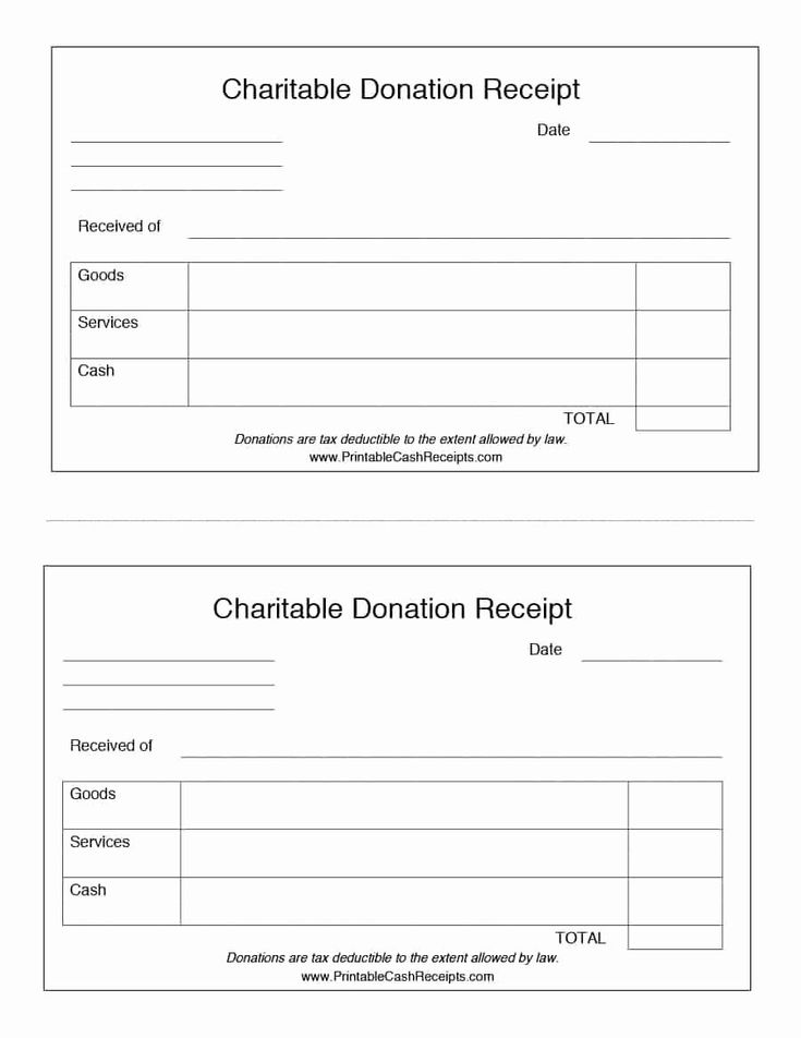 Charitable donation receipt template best of 40 donation