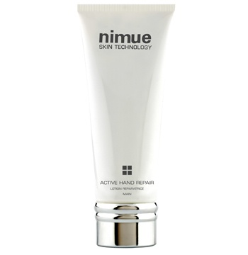 """Active Hand Repair. Active Hand Repair has been specially formulated with Kigelia Africana and AHA`s to help improve and control the problem of """"age spots"""" on the hands and arms. 100ml. Nimue Skin Technology."""