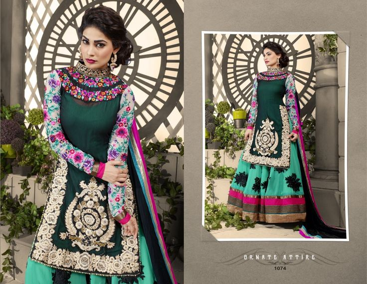 Attractive Looking Multi Colour Georgette Designer Dress Material