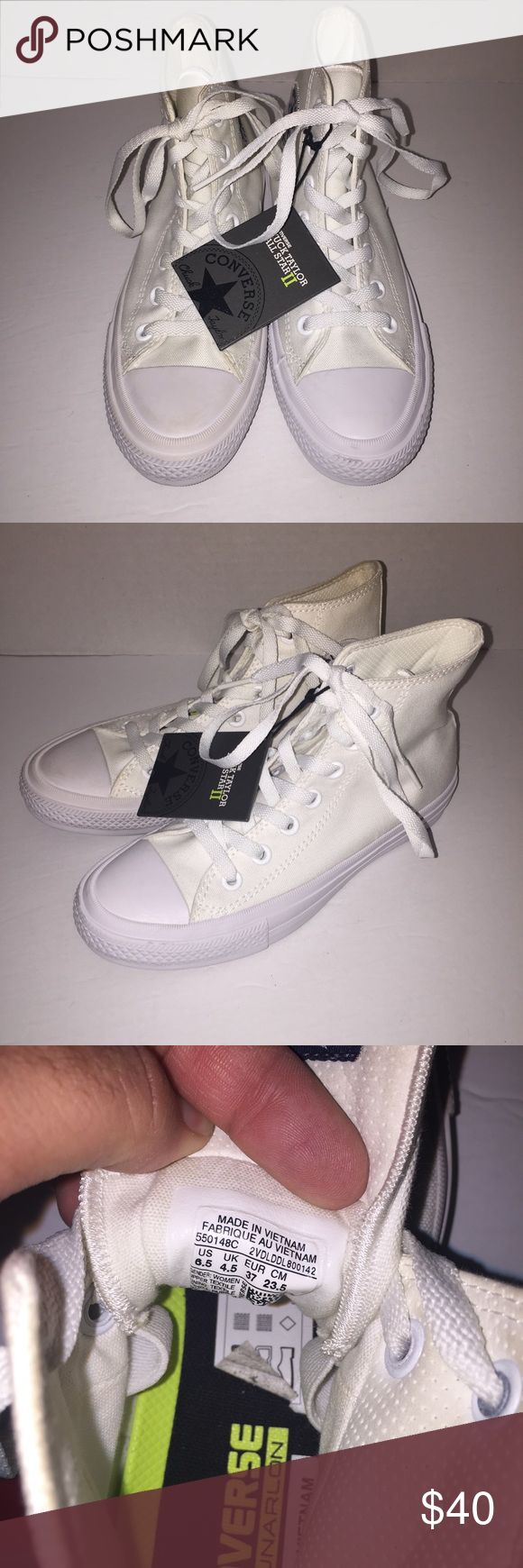 Converse Chuck Taylor White High Top Sneakers 6.5 Worn before , no trades , send me a offer need to move , is Womens size Converse Shoes Sneakers