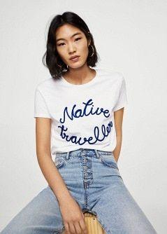 dad6d70b2de6a8 Maglietta messaggio ricamo - Donna | Fashion Inspiration board | T ...