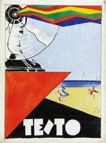 Diego Santambrogio (Italian, 1898–1969) Title:     Ventilatori Marelli (bozzetto preliminare per manifesto) , 1927